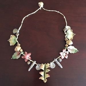 Jewelry - Artist Made Ceramic Nature Choker Necklace